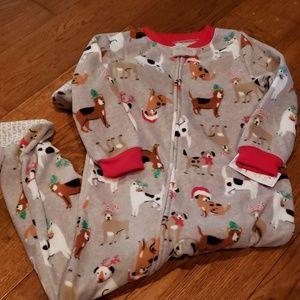 Carters gray Footed Pajamas, NWT